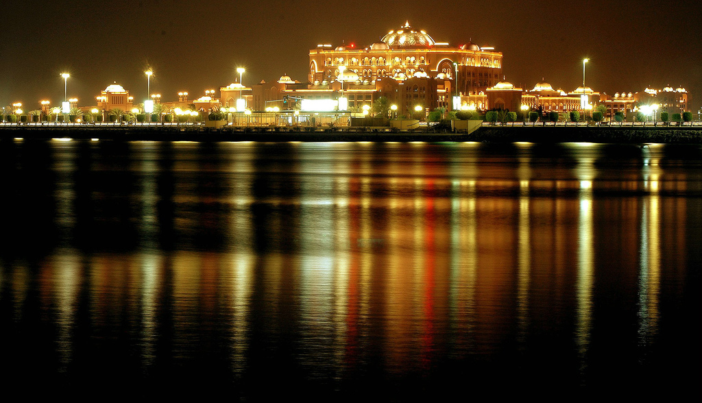 Emirates Palace, Abu Dhabi, UAE, Featured Image, Credit Flickr, At night