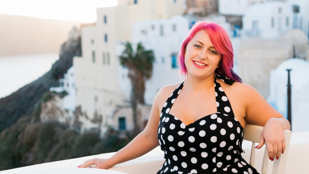 Ellie Burscough, Young Entrepreneurs Talk, Featured Image, Santorini, Greece